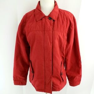 Woolrich Womens Utility Jacket SMALL Barnyard Red